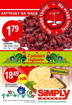 Oferty Simply Market na ulotce Warszawa