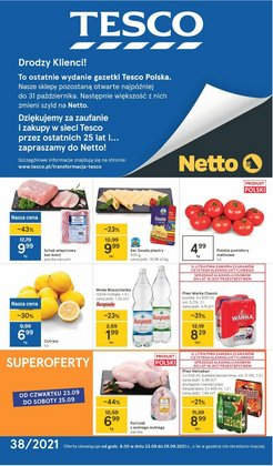Oferty Tesco na ulotce Tesco ( Ważny 2 dni)