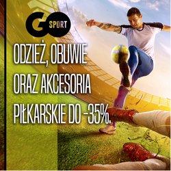 Oferty Sport na ulotce Go Sport ( Ważny 3 dni)