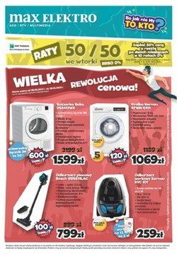 Oferty Elektronika i AGD na ulotce Max Elektro ( Ważny 2 dni)
