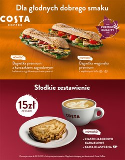 Oferty Restauracje i kawiarnie na ulotce Costa Coffee ( Ponad miesiąc)