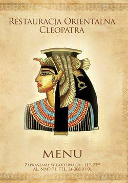 Oferty Restauracja Cleopatra na ulotce Restauracja Cleopatra ( Ponad miesiąc)