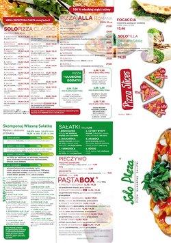 Oferty Restauracje i kawiarnie na ulotce Solo Pizza ( Ważny 3 dni)