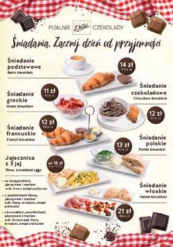 Oferty Restauracje i kawiarnie na ulotce Pijalnie Czekolady E. Wedel ( Ważny 2 dni)