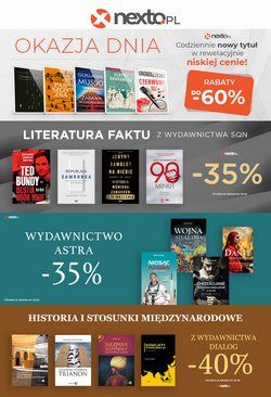 Oferty Książki i artykuły biurowe na ulotce Nexto ( Wydany wczoraj)