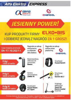 Oferty Alfa Elektro na ulotce Alfa Elektro ( Wygasa dzisiaj)