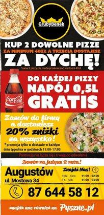 Oferty Restauracje i kawiarnie na ulotce Gruby Benek ( Ponad miesiąc)
