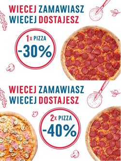 Oferty Restauracje i kawiarnie na ulotce Pizza Dominium ( Ważny 17 dni)