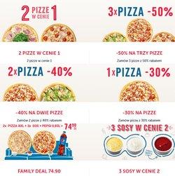 Oferty Restauracje i kawiarnie na ulotce Pizza Dominium ( Ważny 8 dni)