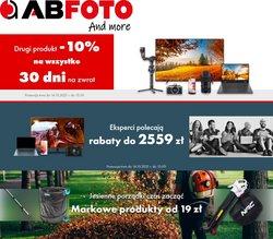 Oferty Elektronika i AGD na ulotce AB FOTO ( Ważny 6 dni)