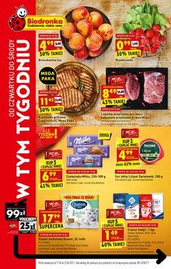 Oferty Supermarkety na ulotce Biedronka ( Ważny 4 dni)