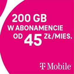 Oferty T-Mobile na ulotce T-Mobile ( Ponad miesiąc)