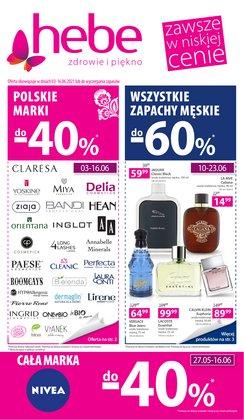 Oferty Perfumy i kosmetyki na ulotce Hebe ( Wygasa jutro)