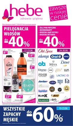 Oferty Perfumy i kosmetyki na ulotce Hebe ( Ważny 5 dni)