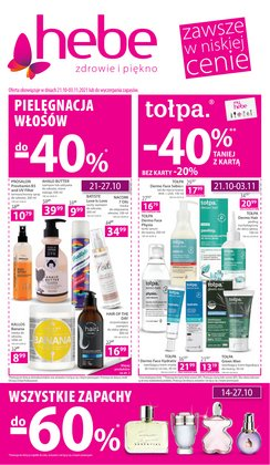 Oferty Perfumy i kosmetyki na ulotce Hebe ( Ważny 6 dni)