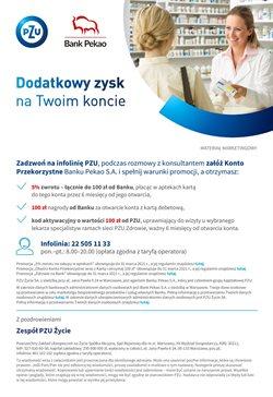 Oferty Banki i ubezpieczenia na ulotce PZU ( Ponad miesiąc)