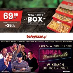 Oferty Restauracje i kawiarnie na ulotce Telepizza ( Ważny 21 dni)
