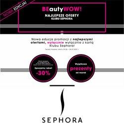 Oferty Perfumy i kosmetyki na ulotce Sephora ( Ważny 2 dni)