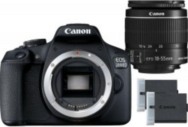 Canon EOS 2000D + obiektyw EF-S 18-55mm IS II + LP-E10 za 2199 zł
