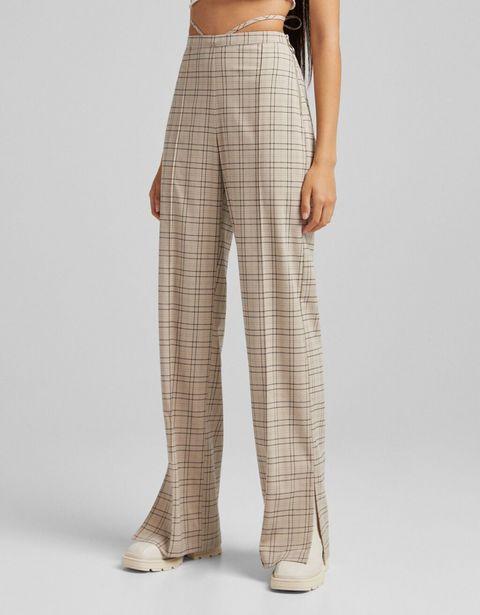 Spodnie o kroju wide leg z krepy za 71,4 zł