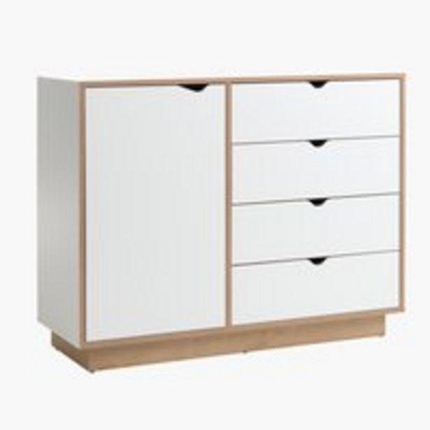 Komoda MAMMEN 4 szufl. 1 drzwi biały/dąb za 475 zł