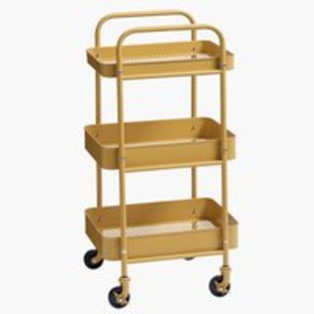 Stolik na kółkach ROLL IT żółty za 249 zł