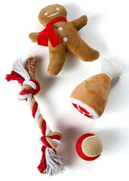 Zabawki dla psa w bożonarodzeniowym stylu (4 części) za 74,99 zł