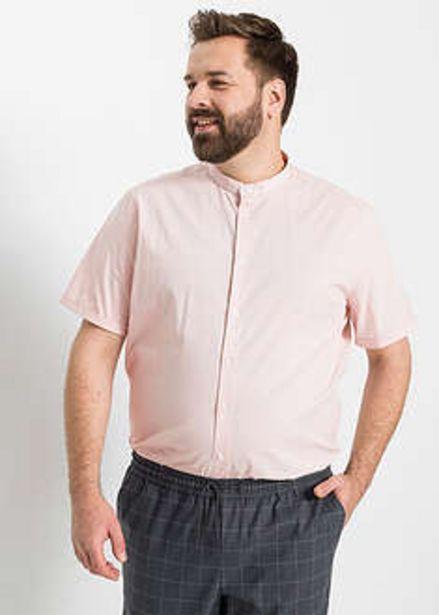 Koszula ze stretchem, z krótkim rękawem i stójką, Slim Fit za 27,99 zł