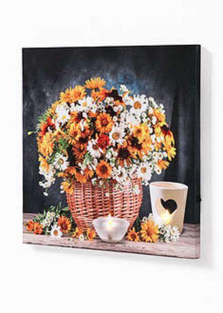 Obraz LED z motywem bukietu kwiatów za 59,99 zł