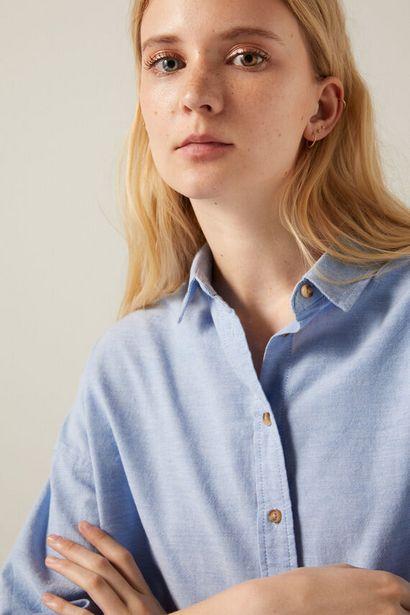 Oversize organic cotton Oxford blouse za 19,99 zł