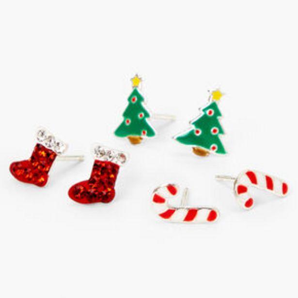 Sterling Silver Christmas Stud Earrings - 3 Pack za 12,5 zł