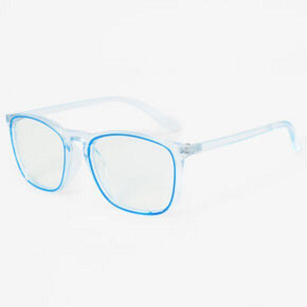 Retro Trim Clear Lens Frames - Blue za 7 zł