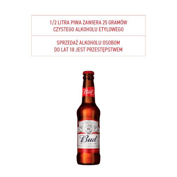 Piwo Bud* za 2,99 zł