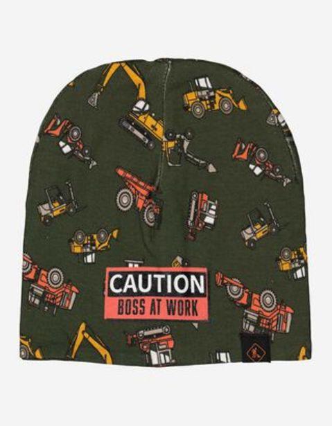 Chłopcy czapka typu beanie - nadruk na całości za 9,99 zł