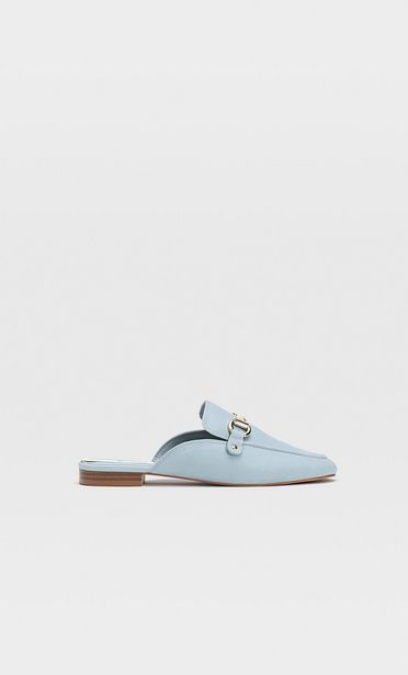 Niebieskie buty bez pięty ze sprzączką za 119 zł