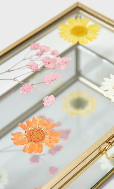 Szklane pudełko w kwiaty za 59,9 zł