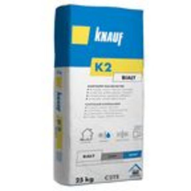 Klej do płytek ściennych elastyczny K2 biały 25 kg Knauf za 41 zł